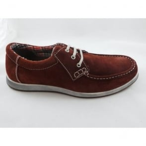 Mens Matlock Burgundy Casual Lace-Up