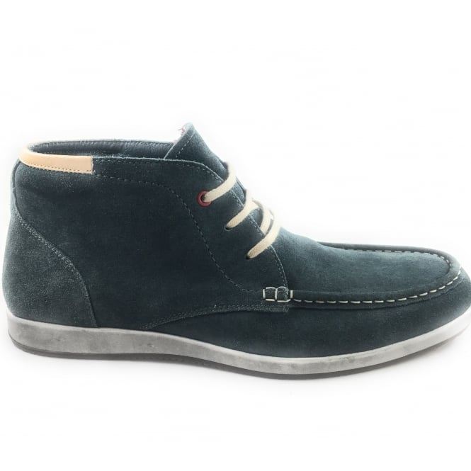 Lotus Men's Navy Suede Casual Lace-Up Ankle Boot