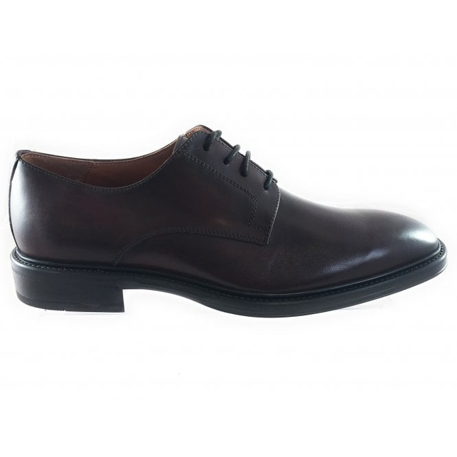 Mens Oxblood Leather Lace-Up Shoe