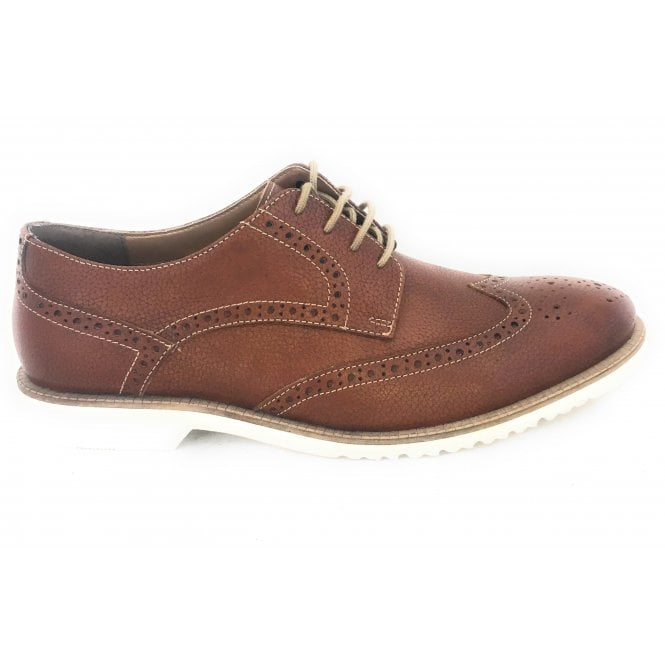 Lotus Men's Tan Leather Brogue