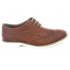 Men's Tan Leather Brogue