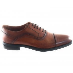 Mens Tan Leather Lace-Up Shoe