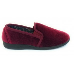 Mens Wycombe Burgundy Slippers