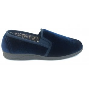Mens Wycombe Navy Slippers