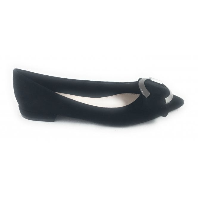 Lunar Mercer Black Patent Pointed Toe Pump