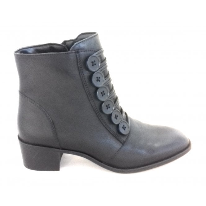 Lotus Meric Black Leather Ankle Boot