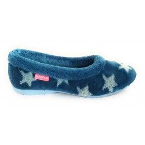 Merlin Blue Star Slippers