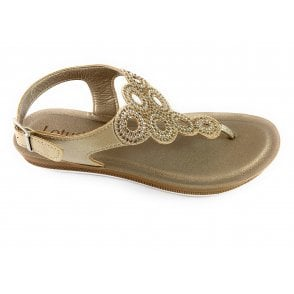 Milan Gold Toe-Post Sandal