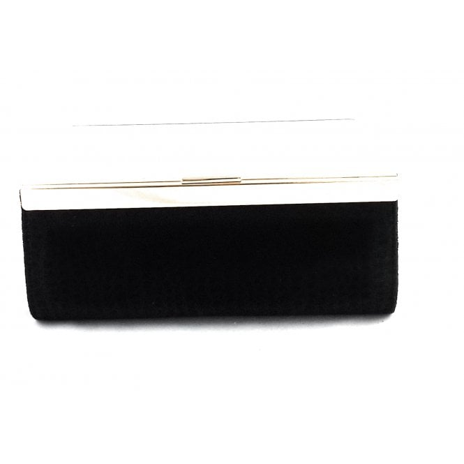 Lotus Milana Black Print Clutch Bag