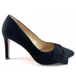 Minango Black Microfibre Court Shoe