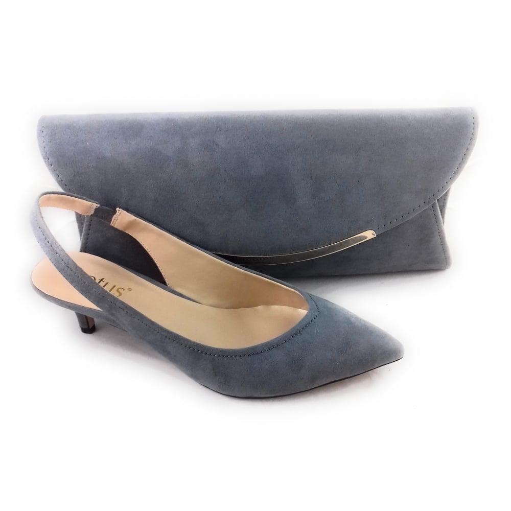 70e77d94e9d Lotus Misty Grey Microfibre Sling-Back Court Shoe