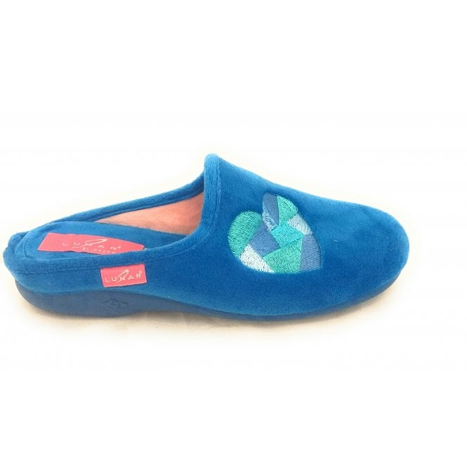 Lunar Mixer Blue Mule Slipper