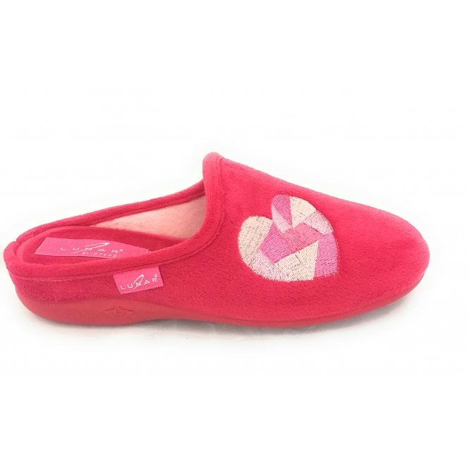 Lunar Mixer Red Mule Slipper