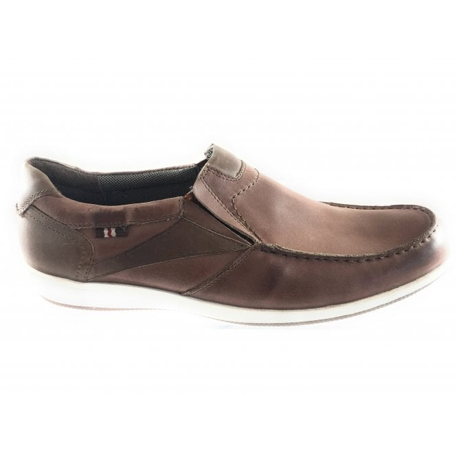 Lotus Moore Tan Leather Slip On Casual Shoe