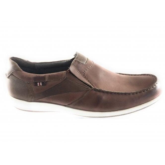 Lotus Moore Tan Leather Slip On Casual Shoe