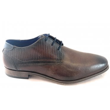 Morino Mens Brown Leather Lace-Up Shoe