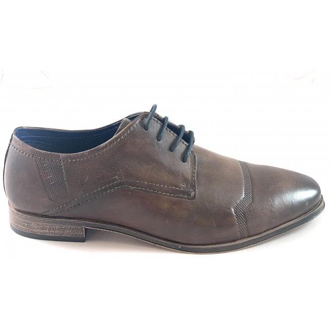Bugatti Morino Mens Brown Leather Lace-Up Shoe
