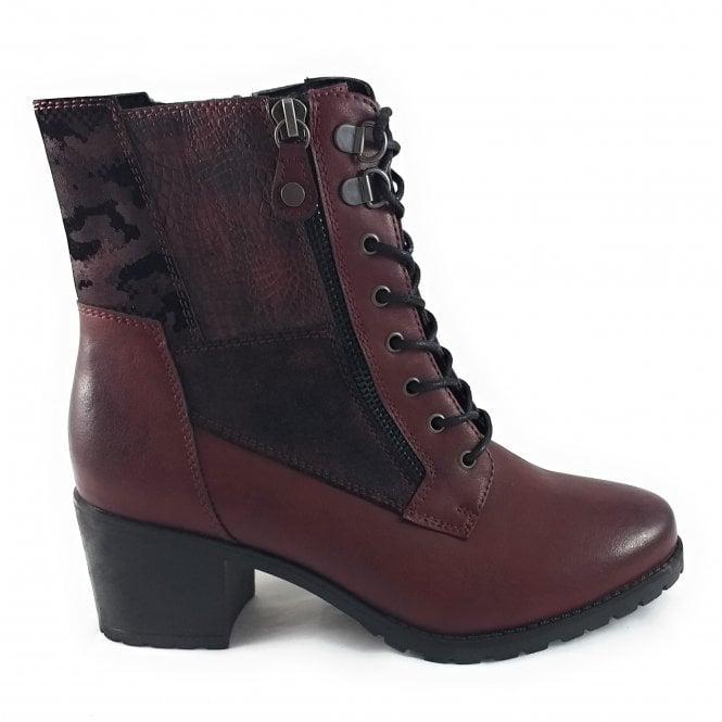 Lotus Nala Bordo Heeled Zip-Up Ankle Boot