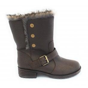 Naomi Khaki Mid-Calf Boot