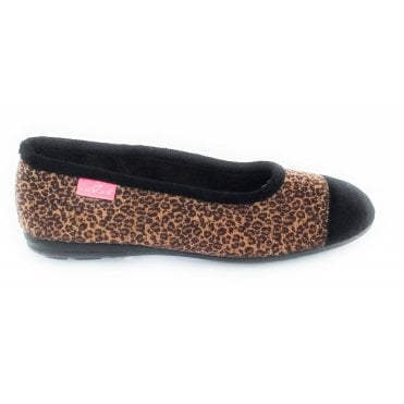 Natal Brown Animal Print Slipper