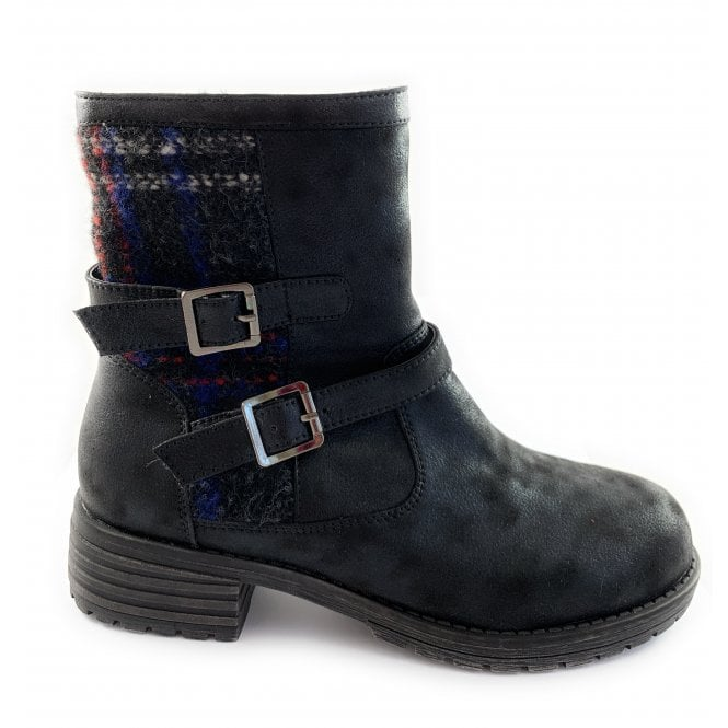 Lotus Natalie Black Ankle Boot