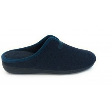 Navy Albert Mens Mule Slippers