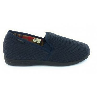Navy Bevis Mens Slippers