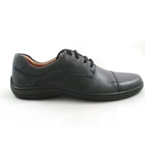 Navy Blue Leather Lace-up Shoe
