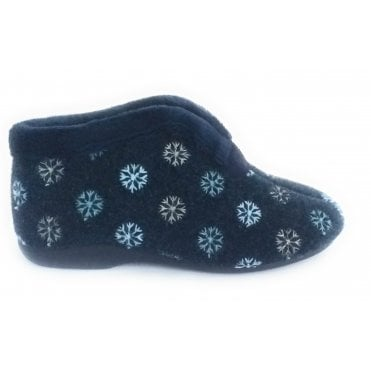 Navy Boot Slipper