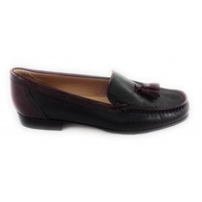 Navy, Forest Green and Burgundy Nappa Leather Moccasin