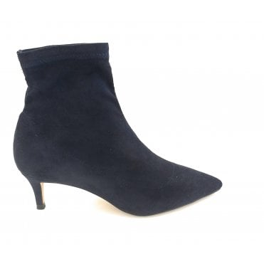 Navy Madruga Pointed Toe Sock Boots