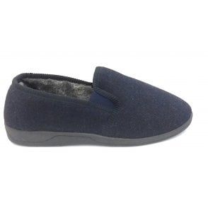 Navy Mens Slippers