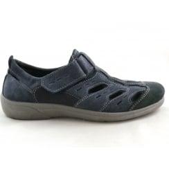 Navy Suede Casual Summer Shoe