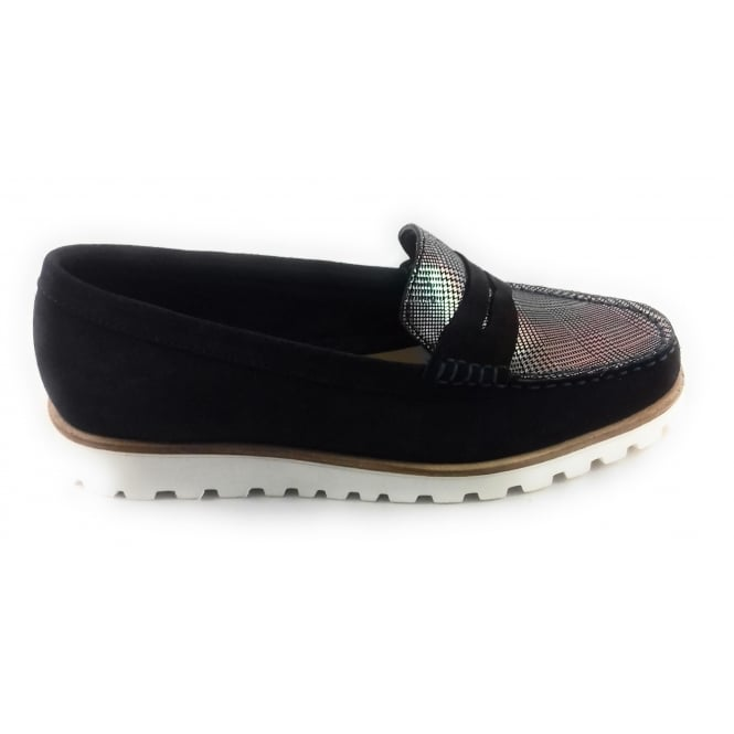 Lotus Navy Suede Loafer