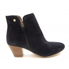 Navy Tulli Suede Ankle Boots