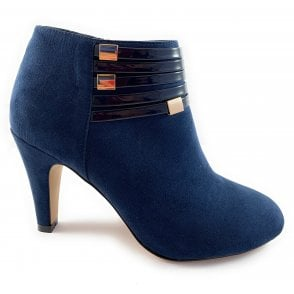 Nell Navy Microfibre Shoe Boot