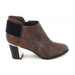 Neve Bronze Heeled Ankle Boot