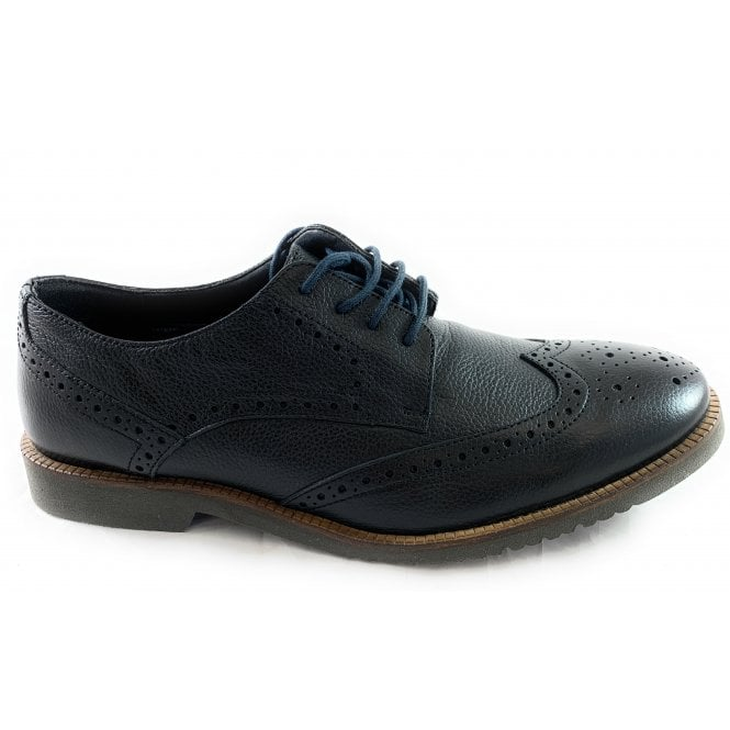 Lotus Newing Black Leather Lace-Up Brogue Shoe