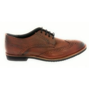 Newing Brown Leather Lace-Up Brogue
