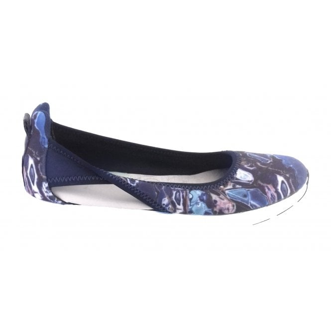 Butterfly Twists Nicola Blue Marble Sporty Pump