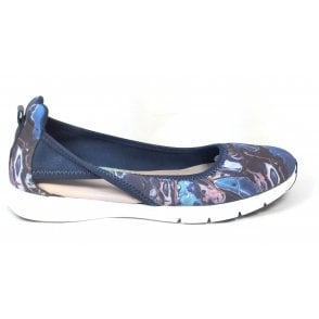 Nicola Blue Marble Sporty Pump