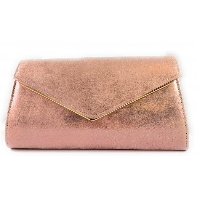 Lotus Nila Pink Metallic Clutch Bag