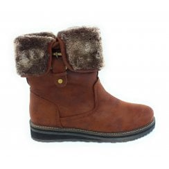 Nishka Tan Zip-Up Boot
