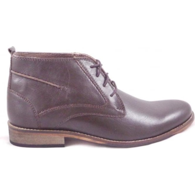 Lotus Noah Brown Leather Lace-Up Boot