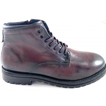 Olbia Bordo Leather Mens Lace-Up Boots