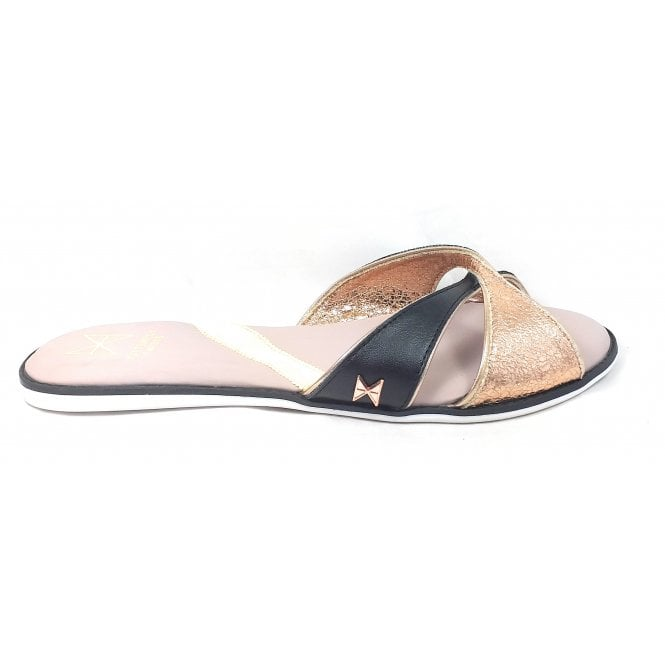 Butterfly Twists Ora Black and Rose Gold Mule