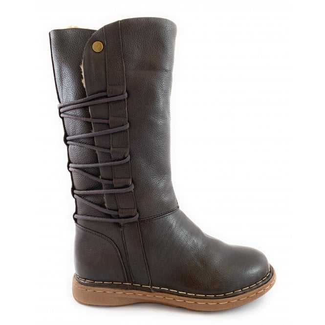 Lotus Orliath Brown Leather Mid-Calf Boot