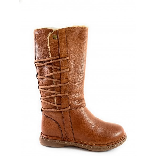 Lotus Orliath Tan Leather Mid-Calf Boot