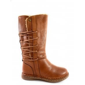 Orliath Tan Leather Mid-Calf Boot