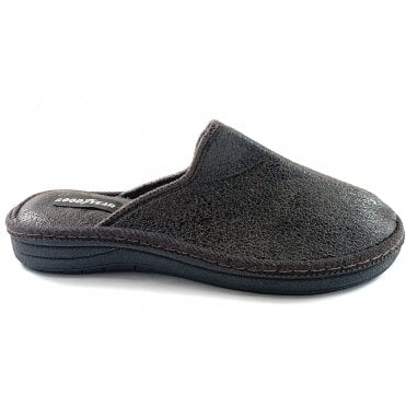Oxley Mens Brown Mule Slipper